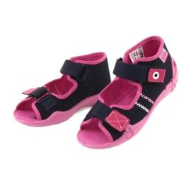 Djevojke papuče repa Befado 242p056 tamnoplava mornarsko plava ružičasta 3