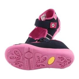 Djevojke papuče repa Befado 242p056 tamnoplava mornarsko plava ružičasta 5