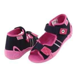 Djevojke papuče repa Befado 242p056 tamnoplava mornarsko plava ružičasta 4