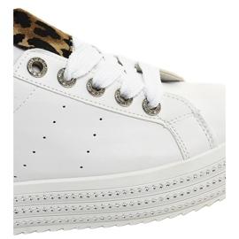 Bijele leopard tenisice na platformi M-071 bijela 5