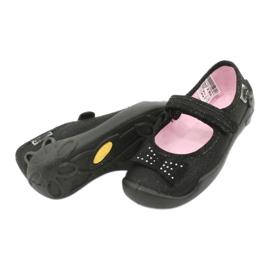 Befado dječje cipele balerinke papuče 114x240 crno srebro 3
