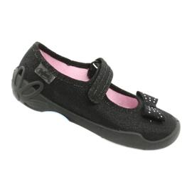 Befado dječje cipele balerinke papuče 114x240 crno srebro 5
