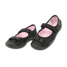Befado dječje cipele balerinke papuče 114x240 crno srebro 2