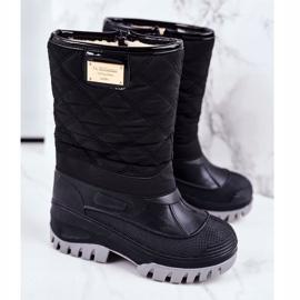 Apawwa Dječje čizme za snijeg izolirane krznom Crna Mussi 1