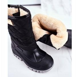 Apawwa Dječje čizme za snijeg izolirane krznom Crna Mussi 4