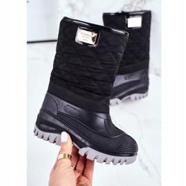 Apawwa Dječje čizme za snijeg izolirane krznom Crna Mussi 2