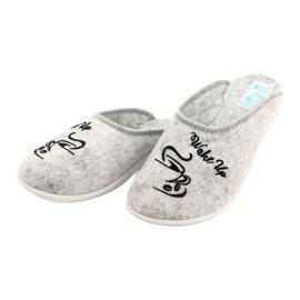 Papuče od filca Wake Up Adanex 25642 sive boje 3