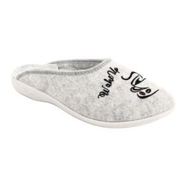 Papuče od filca Wake Up Adanex 25642 sive boje 2