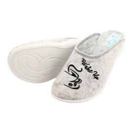 Papuče od filca Wake Up Adanex 25642 sive boje 4