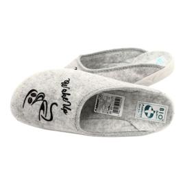 Papuče od filca Wake Up Adanex 25642 sive boje 5