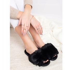 Bona Modne crne papuče crna 3