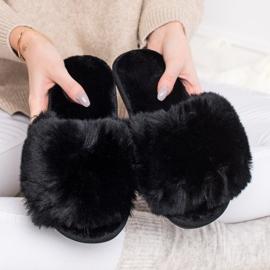 Bona Modne crne papuče crna 4