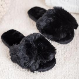 Bona Modne crne papuče crna 1