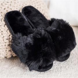 Bona Modne crne papuče crna 2