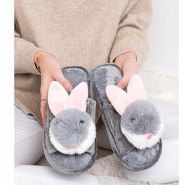 Bona Papuče zeka siva 4