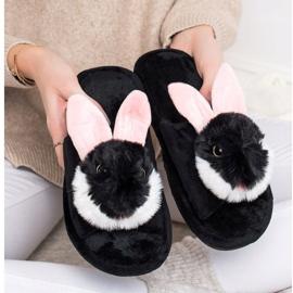 Bona Papuče zeka crna 4
