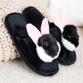 Bona Papuče zeka crna 1