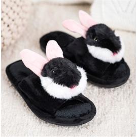 Bona Papuče zeka crna 2