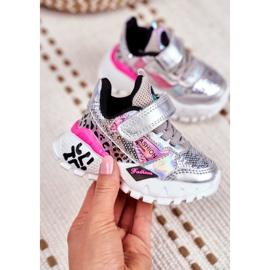 FRROCK Sportske dječje cipele sa čičak srebrom Be Happy siva 2
