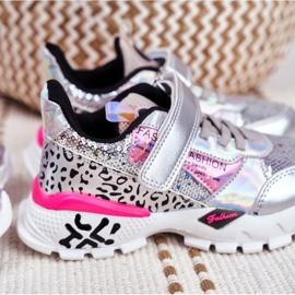 FRROCK Sportske dječje cipele sa čičak srebrom Be Happy siva 7