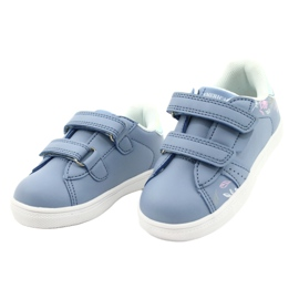 American Club Cipele na čičak ES22 / 21 plava srebro 2