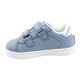 American Club Cipele na čičak ES22 / 21 plava srebro 1