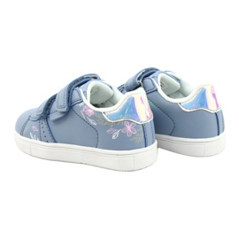 American Club Cipele na čičak ES22 / 21 plava srebro 5