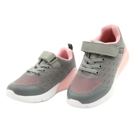 American Club Sportske cipele za djevojčice s čičakom RL12 / 21 Siva ružičasta 2