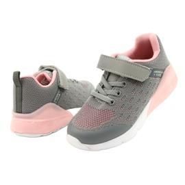 American Club Sportske cipele za djevojčice s čičakom RL12 / 21 Siva ružičasta 3
