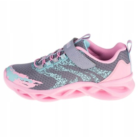 Skechers Twisty Brights W 302301L-GYPK Cipele ružičasta siva 1