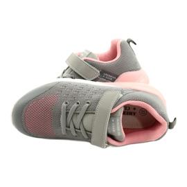 American Club Sportske cipele za djevojčice s čičakom RL11 sivo-ružičasta siva 4