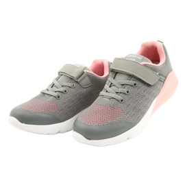 American Club Sportske cipele za djevojčice s čičakom RL11 sivo-ružičasta siva 1