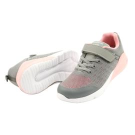 American Club Sportske cipele za djevojčice s čičakom RL11 sivo-ružičasta siva 2