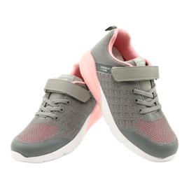 American Club Sportske cipele za djevojčice s čičakom RL11 sivo-ružičasta siva 3