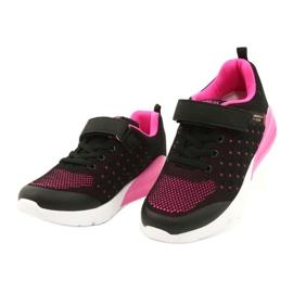 American Club Sportske cipele za djevojčice s čičakom RL11 Crna / Ružičasta crno 1