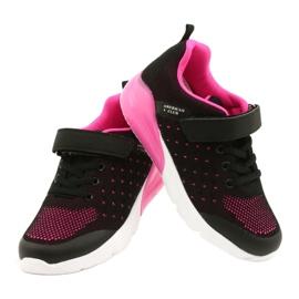 American Club Sportske cipele za djevojčice s čičakom RL11 Crna / Ružičasta crno 3