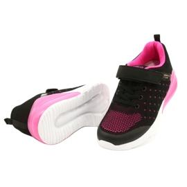 American Club Sportske cipele za djevojčice s čičakom RL11 Crna / Ružičasta crno 2