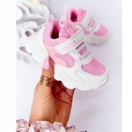 Dječje sportske cipele Tenisice bijeli i ružičasti šećer bijela ružičasta 3