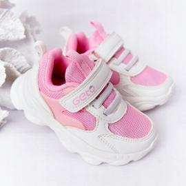 Dječje sportske cipele Tenisice bijeli i ružičasti šećer bijela ružičasta 2