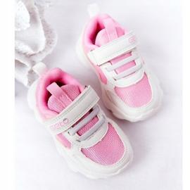 Dječje sportske cipele Tenisice bijeli i ružičasti šećer bijela ružičasta 5