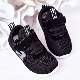 Apawwa Dječje crne sportske cipele Mali sportaš crno 4