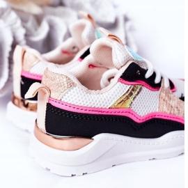 Dječje sportske cipele Tenisice Neon Pink Game Time bijela crno ružičasta 7