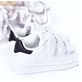 FR1 Dječje sportske cipele s čičak crno -bijelim Fifi bijela 1
