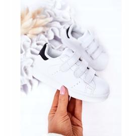 FR1 Dječje sportske cipele s čičak crno -bijelim Fifi bijela 2