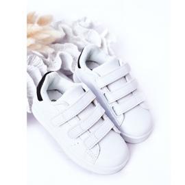 FR1 Dječje sportske cipele s čičak crno -bijelim Fifi bijela 3