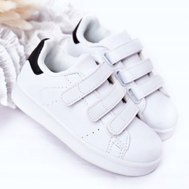 FR1 Dječje sportske cipele s čičak crno -bijelim Fifi bijela 4