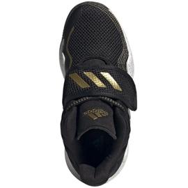 Cipele adidas Deep Threat Primeblue C Jr GZ0111 bijela crno 2