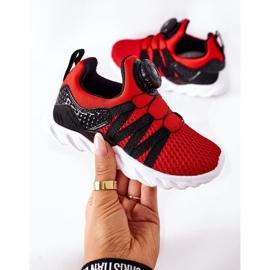 Dječje sportske cipele s ABCKIDS -om Crveni gumb crno crvena 6