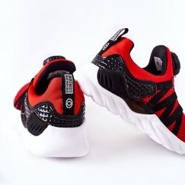 Dječje sportske cipele s ABCKIDS -om Crveni gumb crno crvena 1
