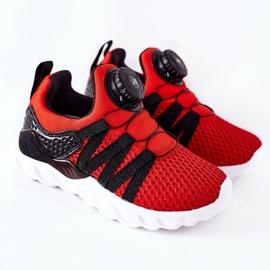 Dječje sportske cipele s ABCKIDS -om Crveni gumb crno crvena 2